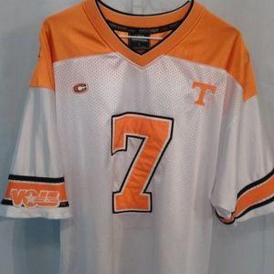 Tenn Vols Orange/White Netted Football Jersey (L)